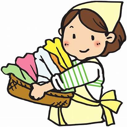 Laundry Clipart Basket Woman Drawing Clip Svg