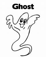 Coloring Ghost Pages Halloween Printable Popular Print Coloringhome sketch template