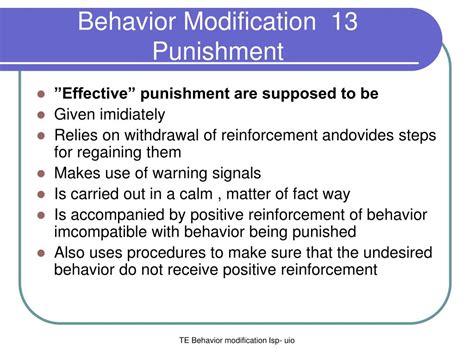 Behavior Modification U Of M behavior modification