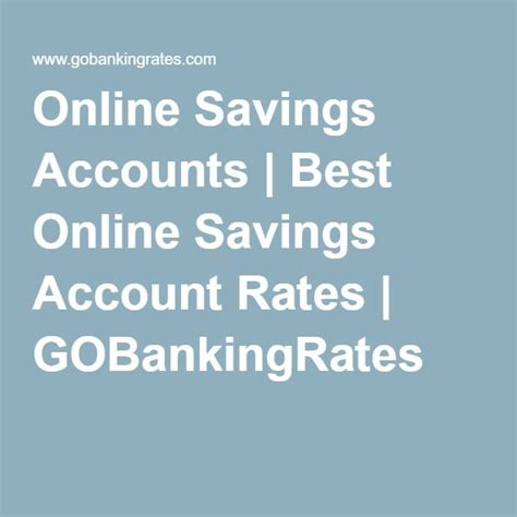 Best Savings Account Rates 25 Best Ideas About Savings Accounts On