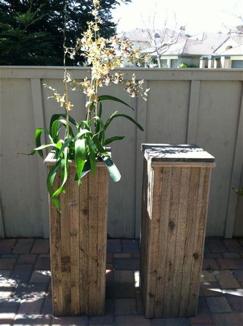 diy plant stand  pallet wood pallets designs