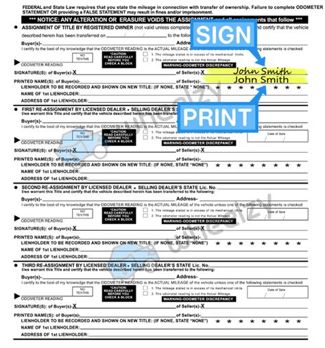 How to Sign Your Car Title in Alabama. Including DMV Title ...