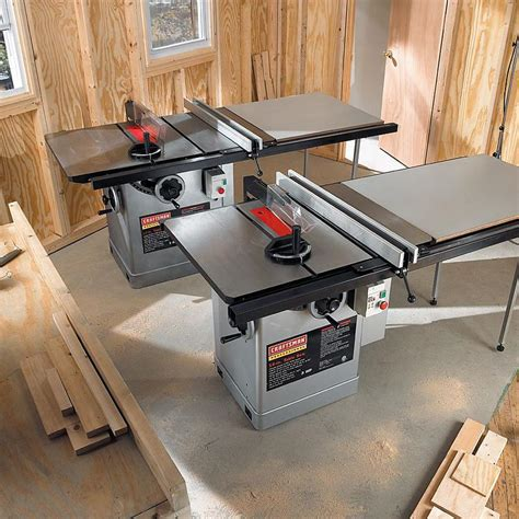 professional table saw reviews craftsman professional 22804 3 hp 10 quot table saw with