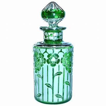 France Cristal Nancy Perfume Bottle Acid Etched