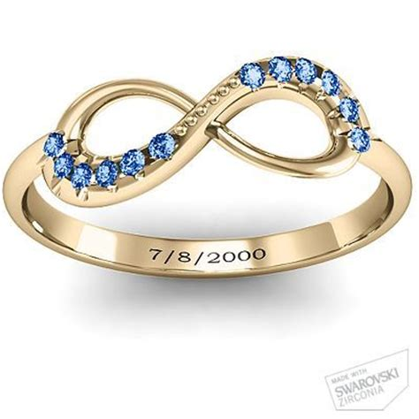 infinity accent ring infinity wedding rings vow renewals and 10 years