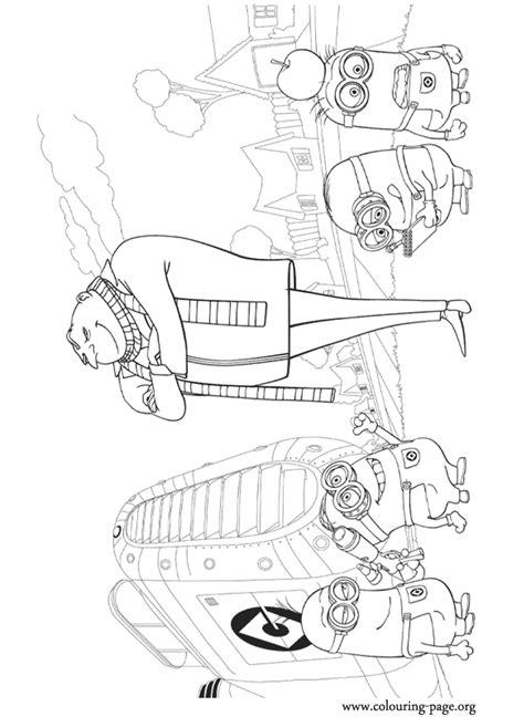 despicable   super villain gru   minions coloring page