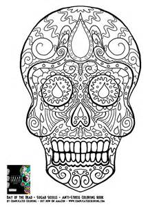 Day of Dead Sugar Skulls Coloring Pages