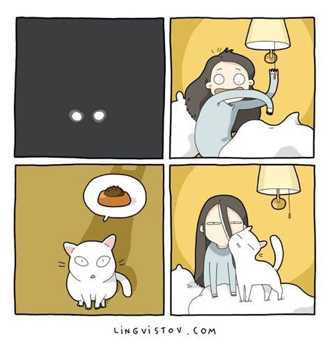 funny comics illustrating  life   cat vuingcom