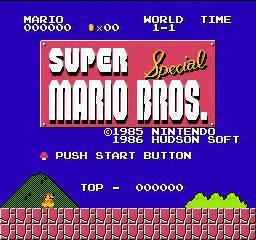 Hacks SUPER MARIO BROS Special X1 For NES