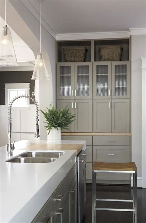 taupe kitchen cabinets contemporary kitchen sherwin