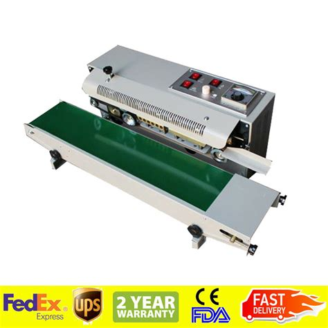 automatic horizontal continuous plastic bag band sealing sealer machine fda  ebay