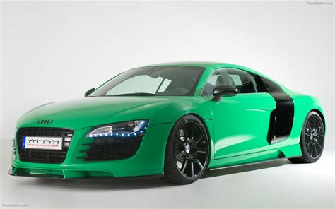 Green Cars by 2009 Mtm Audi R8 In Porsche Green Widescreen Car