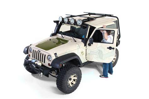 sherpa roof rack  door   jeep wrangler jk