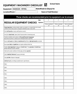 41 checklist templates free premium templates With machine maintenance checklist template