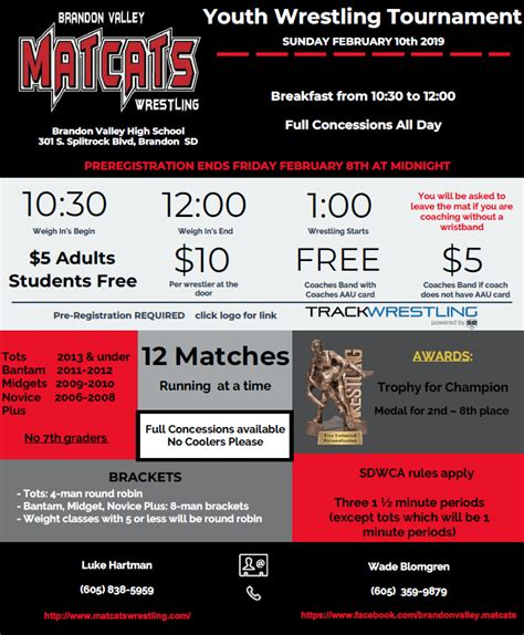 brandon valley youth wrestling tournament brookings youth wrestling
