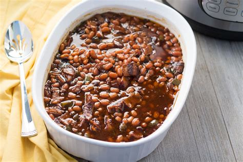 cooker baked beans pressure cooker southern baked beans the foodie eats