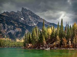 Lake, Mountain, Forest, Clouds, Storm, Water, Trees, Summer, Nature, Landscape, Wallpapers, Hd