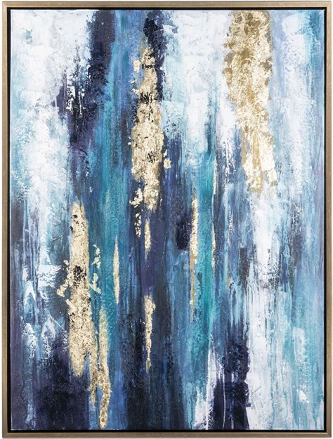 dinorah teal blue wall art  ashley coleman furniture