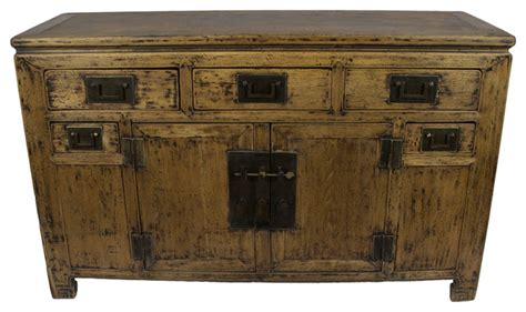 Consigned Distressed Chinese Sideboard