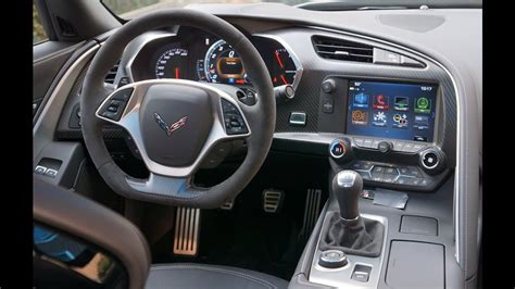 corvette grand sport interior  review youtube