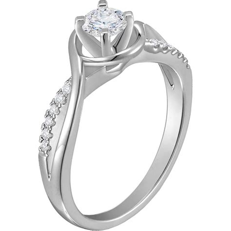 14k precise white gold 3 5 ctw kylee engagement ring engagement rings jewelry