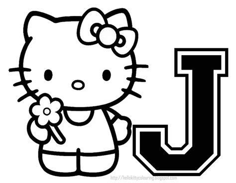 Alfabeto De Hello Kitty Para Colorear.