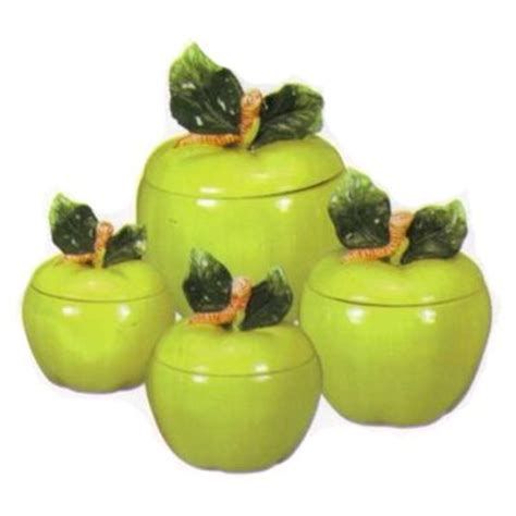apple green kitchen accessories 1000 images about kitchen canisters on tins 4160