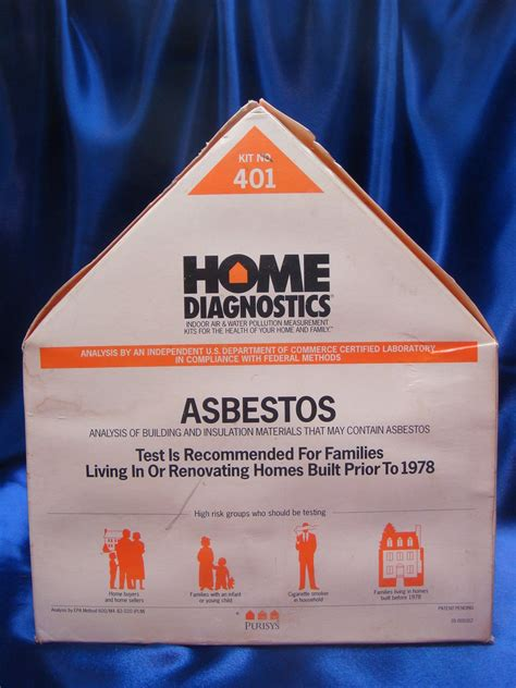 diy home asbestos diagnostic kit