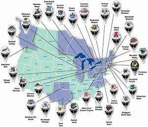 Map Of Nhl Arenas