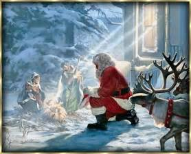 only through christ can i do anything santa is just an image of christmas but christ is
