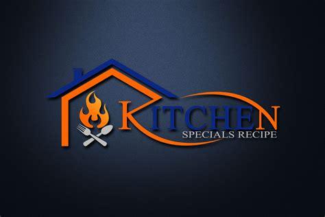 kitchen house psd logo template