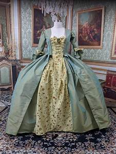 18th, Century, Colonial, Rococo, Baroque, Georgian, Marie, Antoinette, French, Sacque, Gown, Robe, A, La