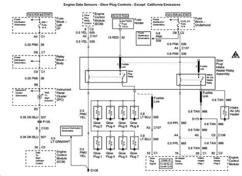 2003 duramax glow relay wiring diagram duramax lly glow wiring diagram get free image