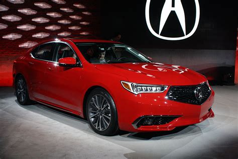 Updated 2018 Acura Tlx Debuts With Swanky New Grille
