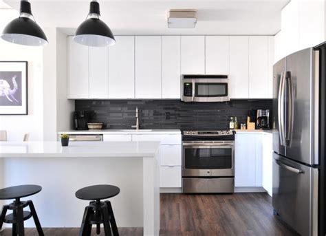 disenos de cocinas modernas en blanco  negro casa  color