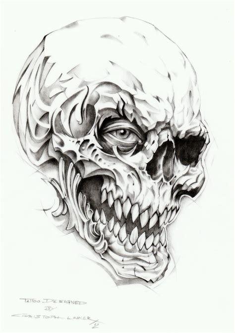 Skull Tattoo Drawing By Linkerartdeviantartcom On