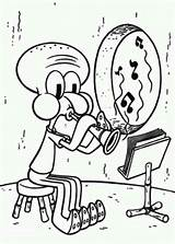 Clarinet Squidward Coloring Playing Drawing Pages Step Cat Netart Jazz Results Getdrawings sketch template