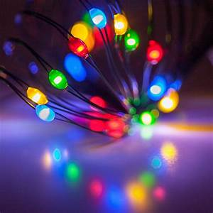 Led Color Icicle Lights Battery Operated Lights 18 Multicolor Battery Operated