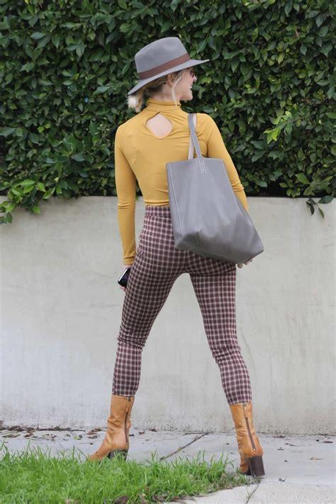 julianne hough looks stylish in a mustard yellow ...