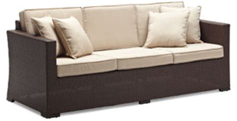 Strathwood Outdoor Furniture Company by Strathwood Griffen All Weather Wicker 3 Seater Sofa Brown