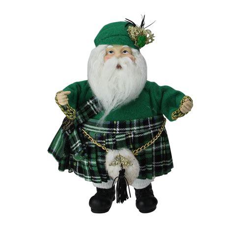 international christmas irish santa claus figure