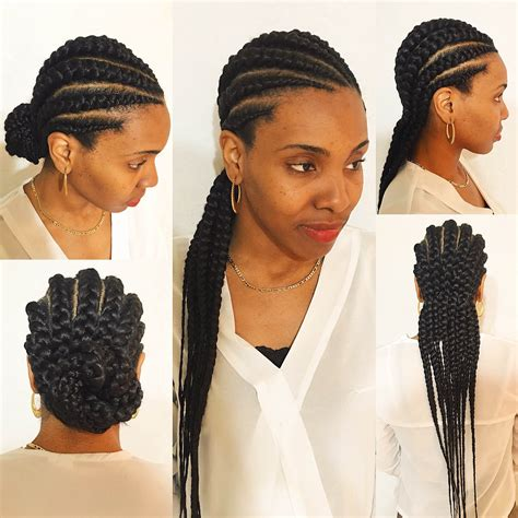 Cornrow With Extensions Hairstyles by Large Cornrow Braids Big Cornrows Londons Beautii Styled