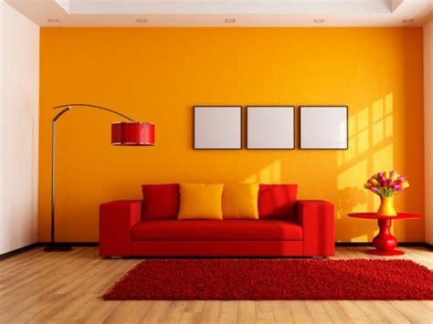 soggiorno arancione colore arancione