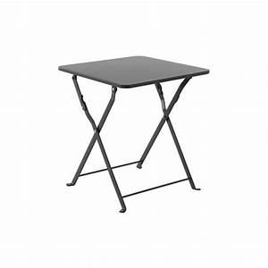 Petite Table Basse Pliante : table d 39 appoint en metal nindiri grise hesperide achat vente table basse jardin table d ~ Melissatoandfro.com Idées de Décoration