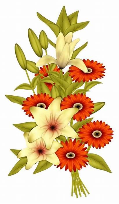 Clipart Floral Flower Flowers Tube Clip Bouquet