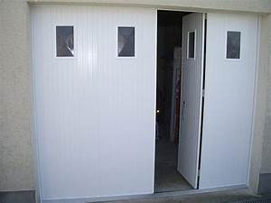 Porte de garage sectionnelle avec porte fenetre pvc 4 for Porte de garage coulissante avec porte pvc