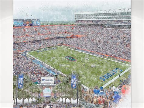 Florida Field at Ben Hill Griffin Stadium Print, Florida ...