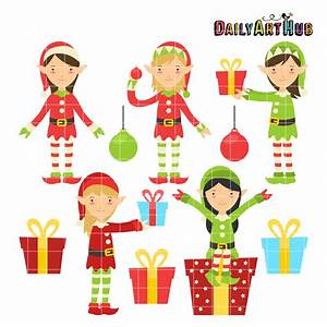 Christmas Elves Clip Art Set – Daily Art Hub – Free Clip ...