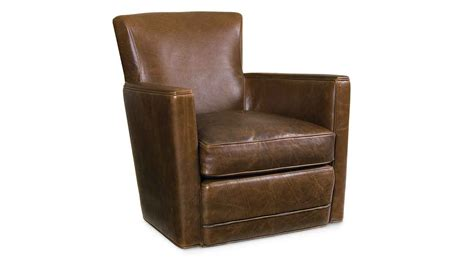 circle furniture trent leather swivel chair leather