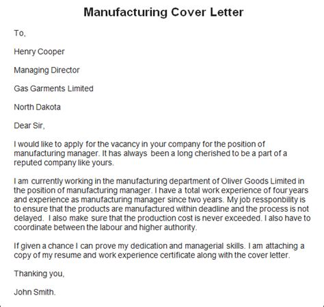 resume cover leter sles manufacturing cover letter exles for production 28 images leading